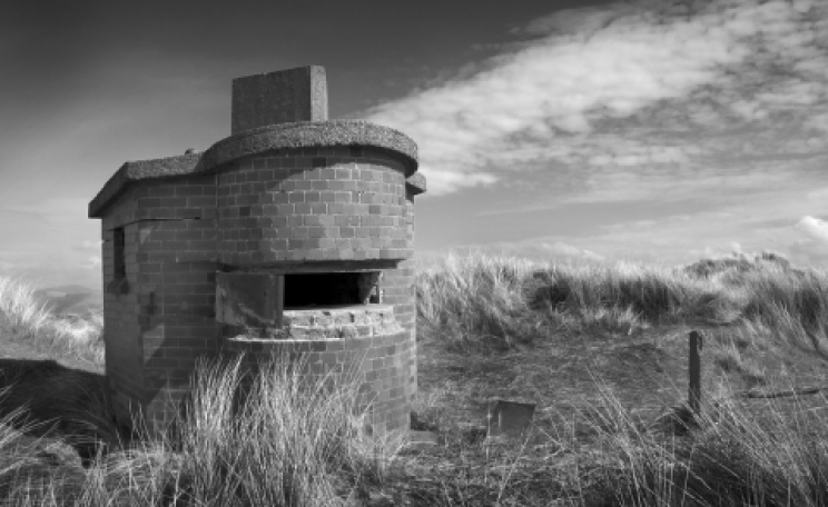 An observation post on Drigg beach. It was used by observers from the Eskmeals gunnery range a short distance down the coast, but looks to have been abandoned years ago. Photo: tim_d via Flickr.com.
