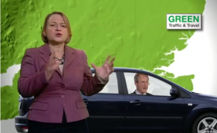 Natalie Bennett presents Sunday Politics travel news, 2 Feb 2014. Photo: from BBC Sunday Politics.