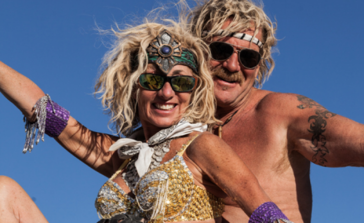 Rediscovering our place in the Universe: a couple at Burning Man 2012, Washoe County, Nevada, USA. Photo: Duncan Rawlinson via Flickr.com.