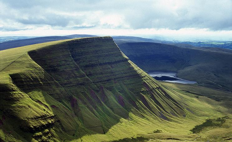 Just outside the Brecon Beacons National Park in South Wales (pictured), on common land high above Ebbw Vale, developers want to build a 3.5 mile motor racing complex. Photo: Ross Merritt via Flickr.