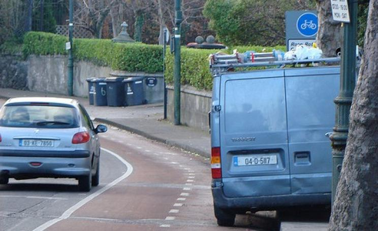 It's all very well painting cycle lanes onto roads - but we must do far, far more than that to make cycling a safe and pleasant transport option. Photo: Cian Ginty via Flickr.