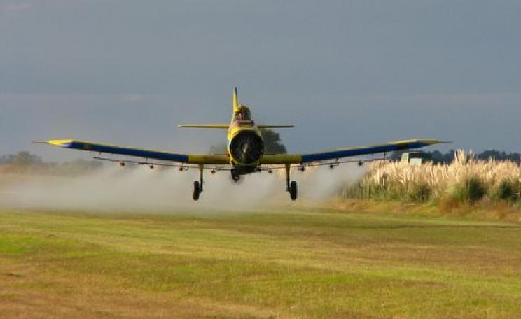 Herbicide use in Argentina has soared with the introduction of GMO crop varieties. Photo: Santiago Nicolau via Flickr.