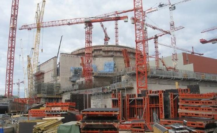 Scheduled for completion in 2009, the Olkiluoto-3 nuclear plant is still under construction, and Areva is no longer projecting a completion date. Costs are running at roughly triple initial estimates. Photo: BBC World Service via Flickr.