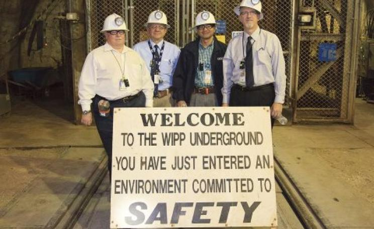 WIPP / Los Alamos National Laboratory celebrates its 1000th transuranic waste shipment. Photo: energy.gov / Wikimedia Commons.