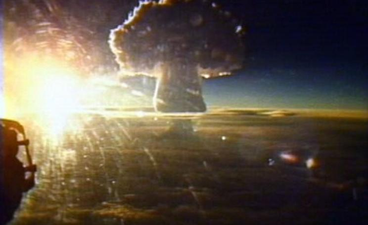 The mushroom cloud of the USSR's Tsar Bomba nuclear bomb test. With its 60 Mt yield, this was the largest nuclear explosion ever. Photo: via Andy Zeigert / Flickr.