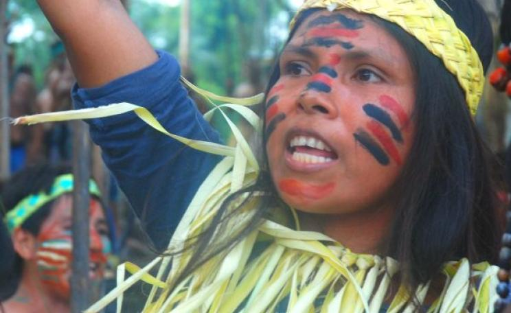 A Kichwa girl on the Rio Tigre blockade. Photo: David Hill.
