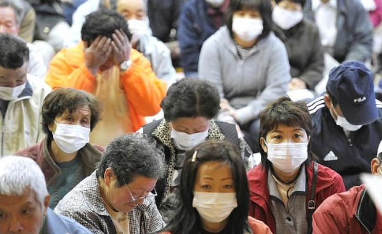 Now it's Japan's press that's muzzled. Residents of Iitate village, about 40 kilometers from the radiation-spewing Fukushima Dai-ichi nuclear plant, prepare fopr evacuation, 13th April 2011. Photo: Kyodo News via Irish Typepad on Flickr (CC BY-NC-ND 2.0).