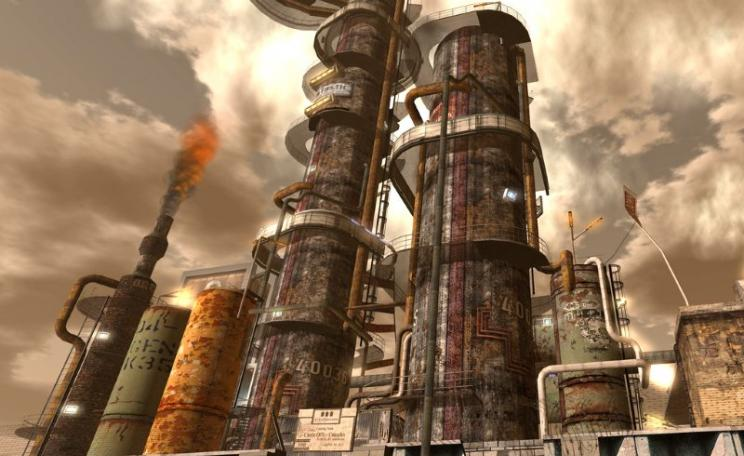 'Oil Refinery at Oxymoron'. Artwork by Wyatt Wellman via Flickr (CC BY-SA).