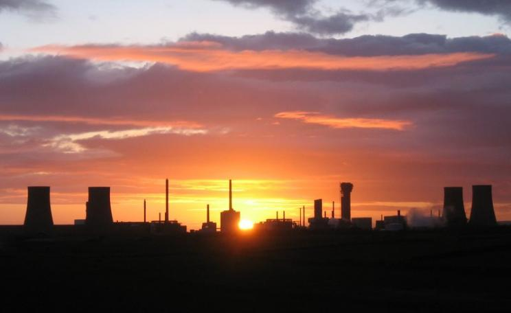 Sunset over Sellafield ... those nuclear liabilities will cost billions, and billions, for thousands of years. Photo: Dom Crayford via Flickr (CC BY-NC-ND).