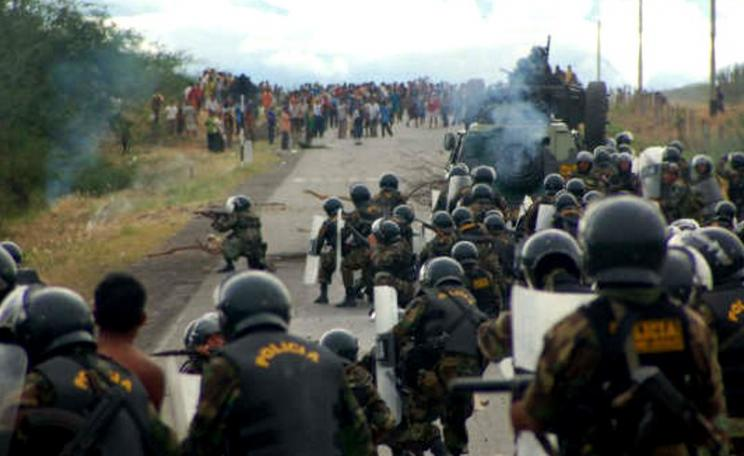 34 people were killed at the 2009 protest for indigenous rights at Bagua, Peru. Photo: anonoymous via powless / Flickr (CC BY).