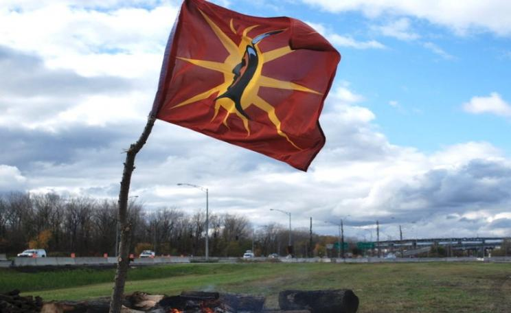 The Mohawk warrior flag. Photo: Red Power Media.