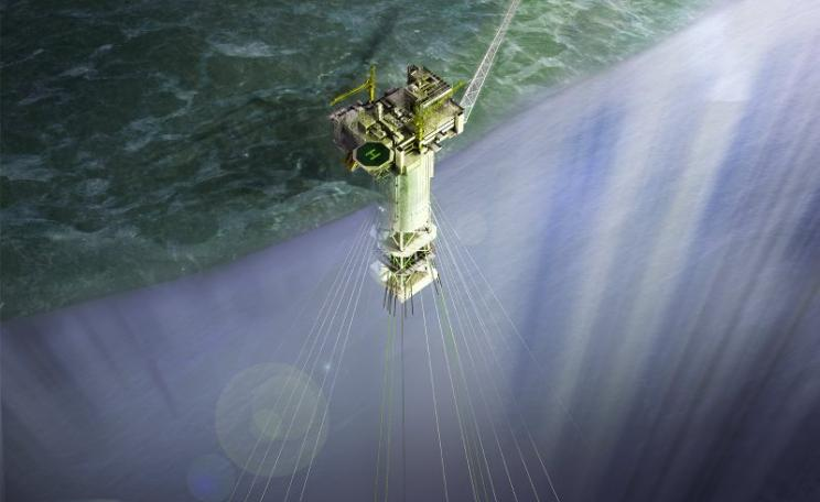Proposed rig for Statoil's Aasta Hansteen gas field in the Arctic waters of the Norwegian Sea. A pipeline to Norway's coast is now under construction. Photo: Statoil Image Bank / ASA.