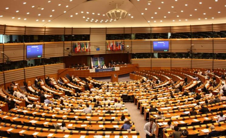 No signs of structural damage, but a a political earthquake took place here last week. Photo of European Parliament by Michal Sänger via Flickr (CC BY-NC-SA).