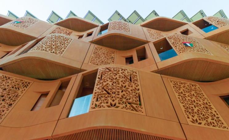 New building in Masdar City with an old twist. Photo: André Diogo Moecke via Flickr (CC BY-NC).