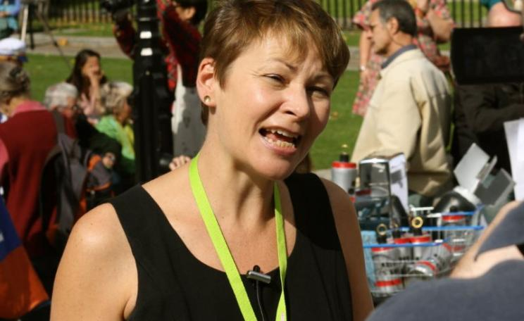 Caroline Lucas. Photo: Patrick Duce / Campaign Against Arms Trade (CC BY-NC-ND).