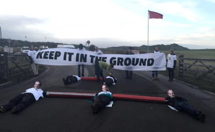Blockading Matt Ridley's coal mine. Photo: EndCoalNow.com.