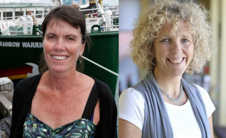Bunny McDiarmid, left, and Jennifer Morgan, right.: Greenpeace International's new Executive Directors. Photo: Greenpeace.