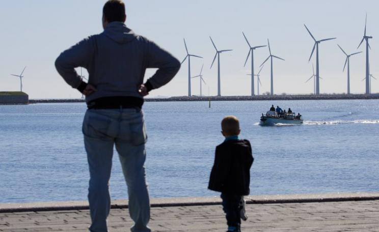 Wind power in Copenhagen, Denmark - representing everything the UK's Euro-sceptic right most hates. Photo: Johan Wessman / News Øresund via Flickr (CC BY-ND).