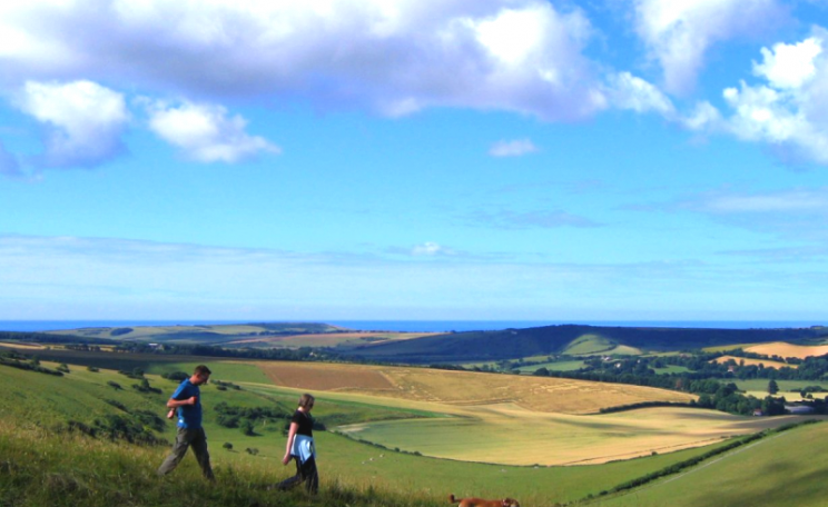 Walking on the South Downs: a perfect place for contemplation, reminiscence ... and love? Photo: JR P via Flickr (CC BY-NC)