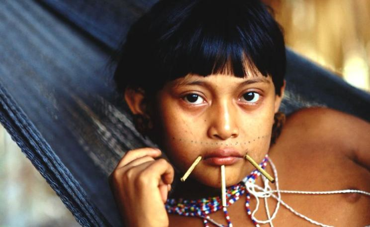 Yanomami girl. Photo: Sam valadi via Flickr (CC BY).