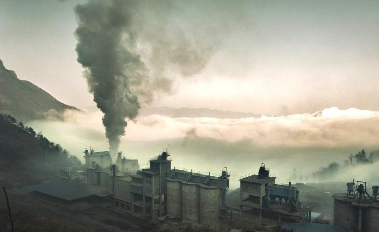 Even though most of China's industrial production is exported to the UK and other countries, we take no responsibility for the emissions in its power plants and factories, like this one in Chonqing. Photo: Jonathan Kos-Read via Flickr (CC BY-ND).