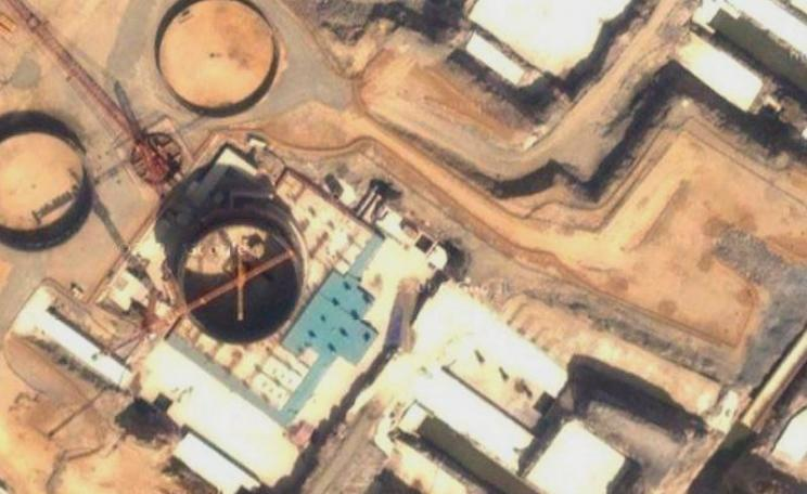 North Korean nuclear reactor construction under way on 24th April 2008. Photo: Wapster / Google Maps via Flickr (CC BY).