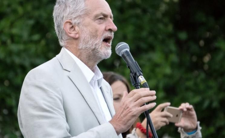 Jeremy Corbyn addressing a leadership rally, 8th August 2016. Photo: Paul Newport via Flickr (CC BY).