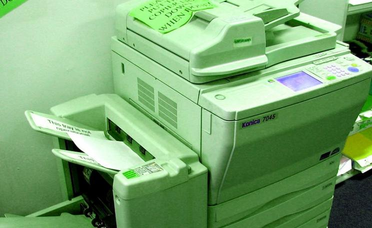 How to green your photocopier? Easy - just change the default from single to double-sided copies, and most people will go along with it. Result? Save thousands of trees. Photo: Bruce Bortin via Flickr (CC BY-NC).