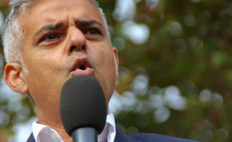 Sadiq Khan speaking against Heathrow expansion at a protest at Parliament Square, London, 10th October 2015. Photo: Steve Eason via Flickr (CC BY-NC-SA).