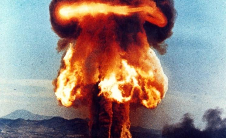 A closeup of the fireball and mushroom cloud from the Upshot-Knothole Grable atomic bomb test in Nevada, 25th May 1953. The 1950's and '60's bomb tests, we can now calculate, caused uncounted millions of cancer deaths. Photo: Federal Government of the Uni