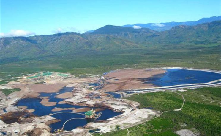 Aerial view of Rio Tinto's QMM mine in Madagascar. Photo: via Andrew Lees Trust.