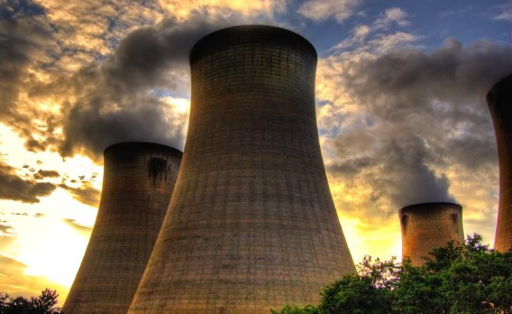 The four eastern cooling towers at the Drax biomass and coal-fired power station in North Yorkshire.