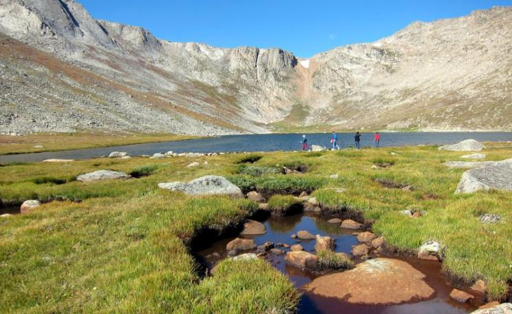 There's carbon in the world's permafrost soils, like these at Summit Lake, Mount Evans/ Mount Spalding, Colorado - more than in the entire atmosphere!  Photo: Wally Gobetz via Flickr (CC BY-NC-ND).