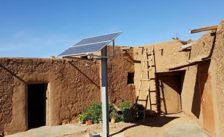 An example of decentralised solar project installed in Morocco