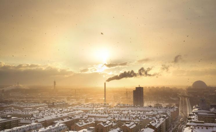 Air pollution is one of the health impacts of high carbon economies, (c) Petter Rudwall