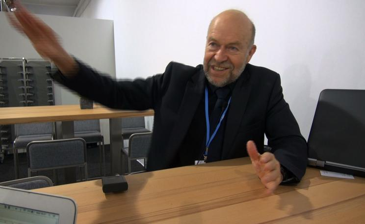 James Hansen interviewed by Nick Breeze at COP23 in Bonn (c) Nick Breeze.
