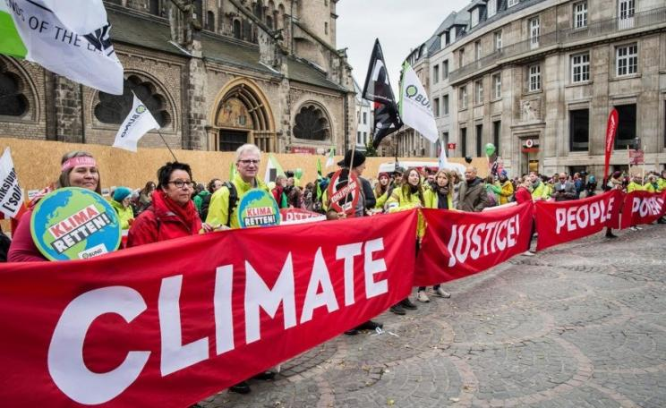 The call for urgent climate action during COP23 in Bonn by activists and NGOs is supported by the science. Images via COP23Demo on Flickr.
