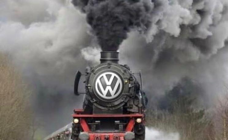 Spoof image mocking VW after the 'Dieselgate' scandal in which car makers evaded carbon emissions tests. (C) imageflip.com