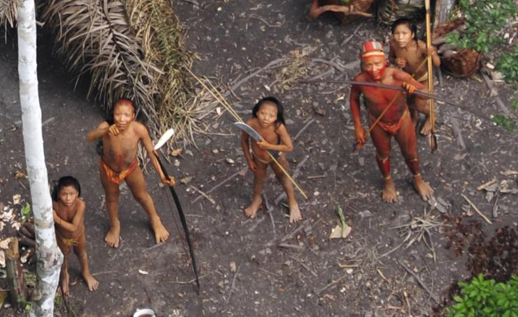 Uncontacted people, like these pictured in iconic aerial photos released in 2011, are the most vulnerable people on the planet © Survival