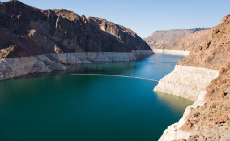 Water levels in the Colorado River reservoirs have fallen to 59 per cent of capacity.