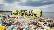"""Polluted by single-use plastic"""