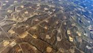 A network of fracking wells in the USA