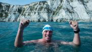Lewis Pugh completing The Long Swim