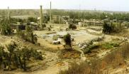 The Osirak research reactor site in Iraq after it was bombed by Israel in 1981.