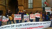 Indigenous rights tar sands protest