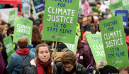 Climate justice march
