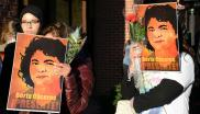 A vigil for Berta Caceres, a Honduran environmental activist murdered in 2016
