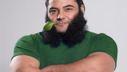 Vegan strongman Patrik Baboumian eats some spinach