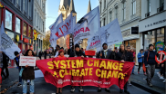 Climate justice activists from Nepal, Peru, Germany, the USA and the Philippines marching in Bonn during COP23