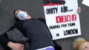 Air pollution protest